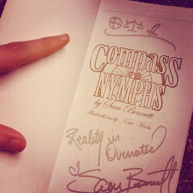 Snuck a cryptic drawing in this book signing. Hope the reader is a code breaker!